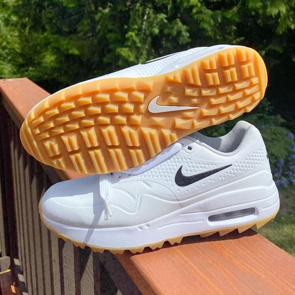 Nike Shoes New Air Max 1 Golf White Gum Black Swoosh Poshmark